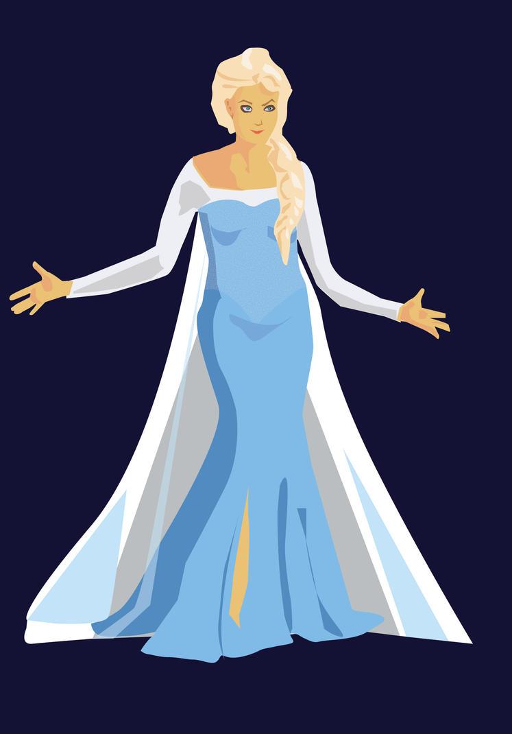 Elsa in Idina's  Body by Mou-sse