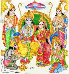 Sri Ram Darbar by SreejaRenganath