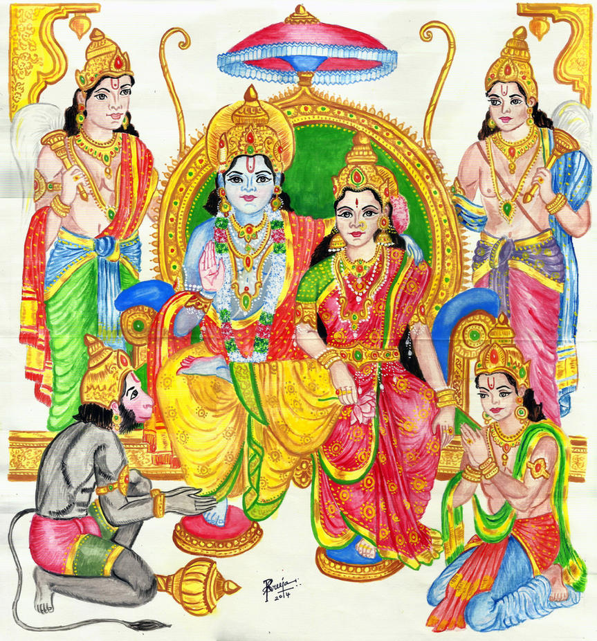 Good Wallpaper Lord Ram Darbar - sri_ram_darbar_by_sreejarenganath-d8vowz2  Best Photo Reference_47585.jpg