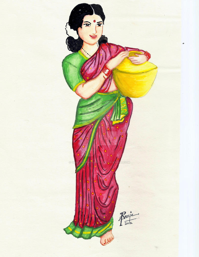 Traditional Indian Woman by SreejaRenganath on DeviantArt