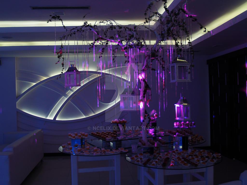 decoracion boda de mesa de dulces iluminacion by Ncelix