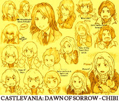 Castlevania DoS Chibi Wall by Trillzey