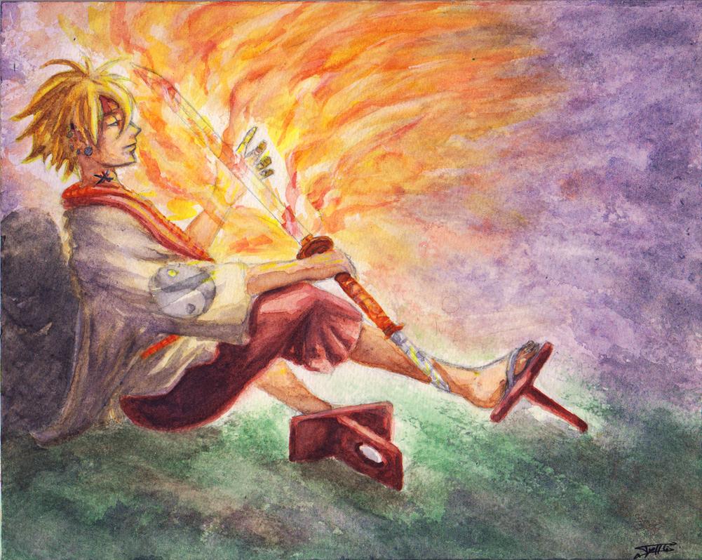 Hotaru - watercolor by Tyfflie