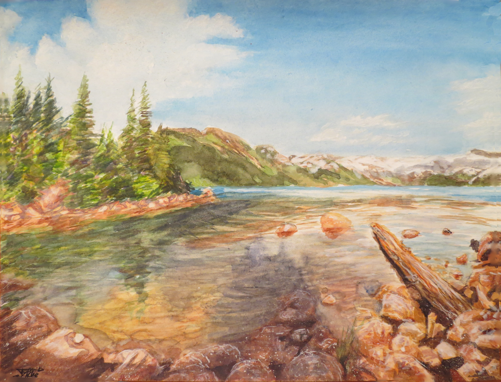 Landscape In Watercolor By Tyfflie