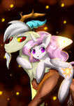 Young Discord and Celestia