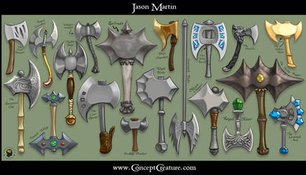 Weapon Sheet: Axes