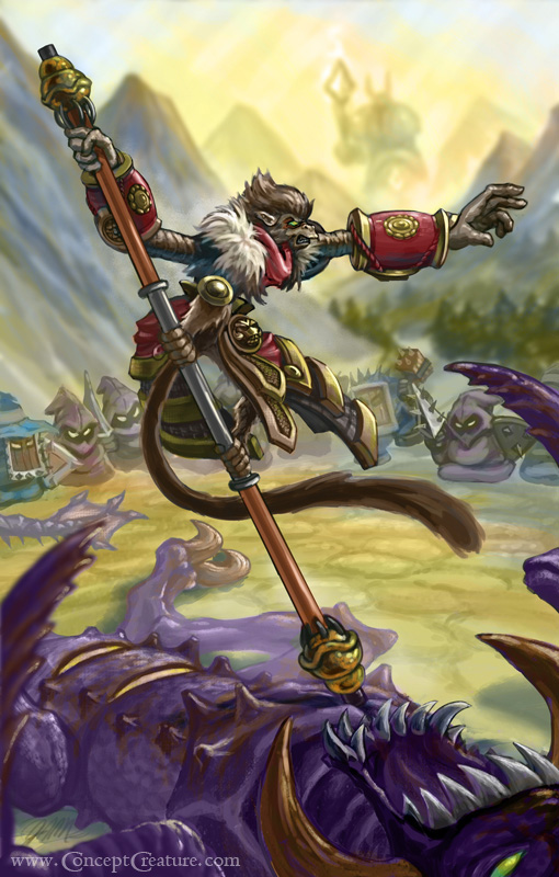 League of Legend's Wukong, the Monkey King by concept-creature