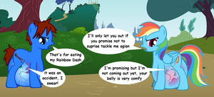 Cameron and Rainbow Dash's snack
