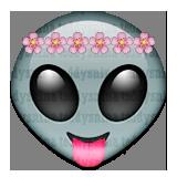 Cutie Alien Whatsapp Emoji by teddysnina