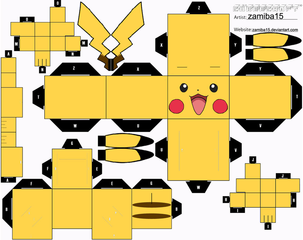 Pikachu Cubeecraft by zamiba15