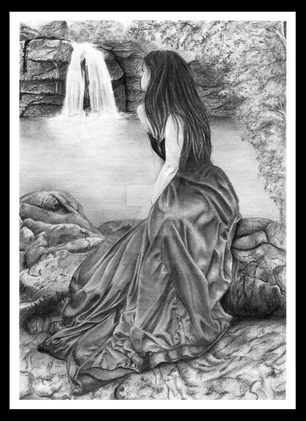 Autumn Waterfall Illusion by Bellaelysium