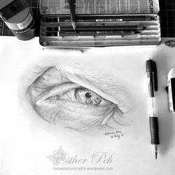 Eye sketch practice by Bellaelysium