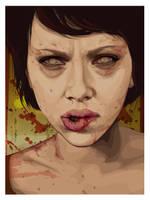 Zombie Scarlett Johanson by kilxover