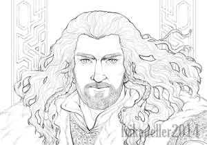 Thorin Oakenshield - lineart