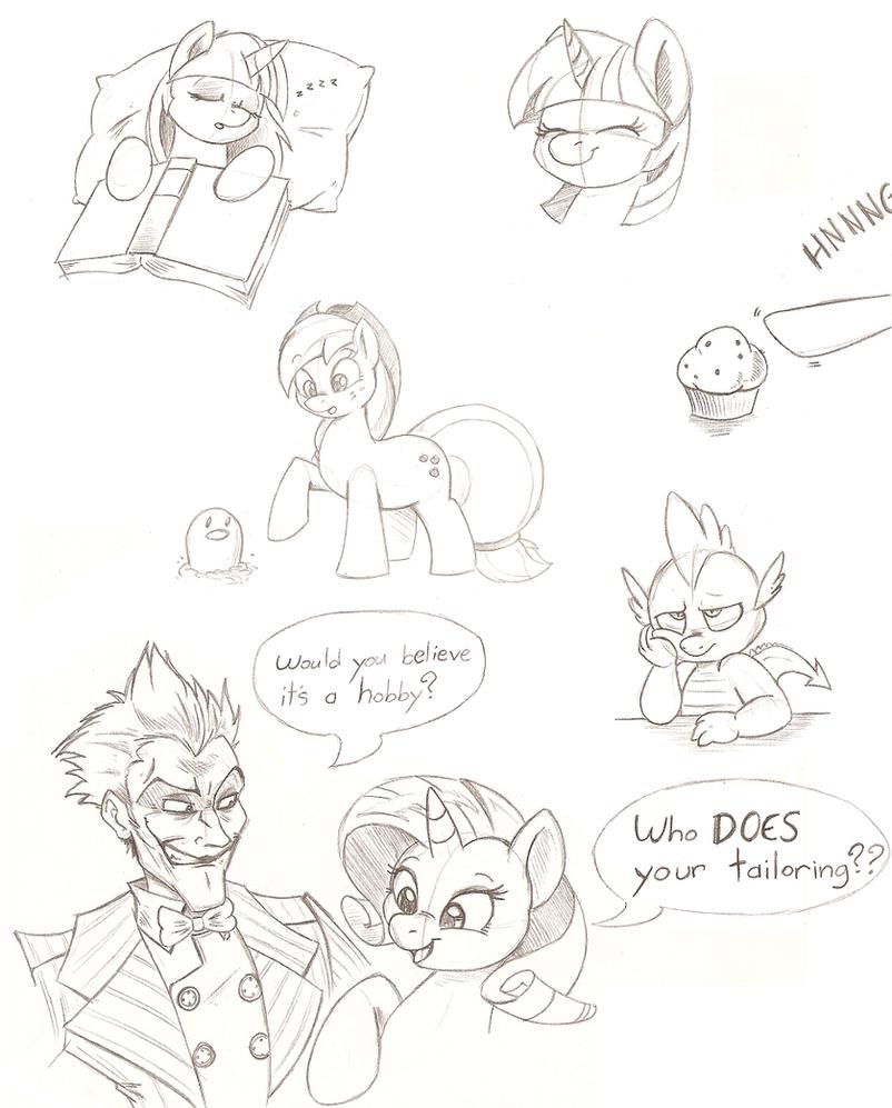 Pony Doodles by Joey-Darkmeat