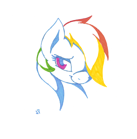 Rainbow Dash by Joey-Darkmeat