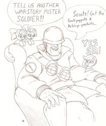 Silly Uncle Soldier by Joey-Darkmeat