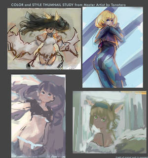 Study Color of Master artists, Thumbnail Paint