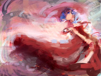 Rem and red victorian dress rough sketch practice