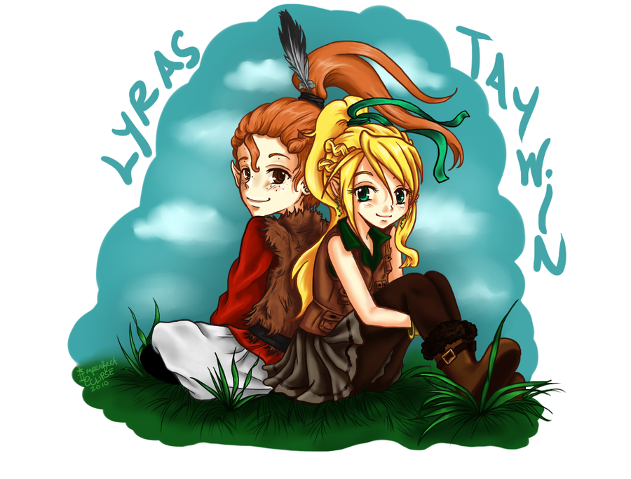 Lyras and Taywin by ImperfectEclipse