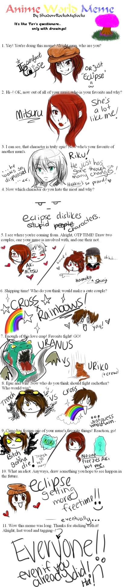 Anime World Meme by ImperfectEclipse