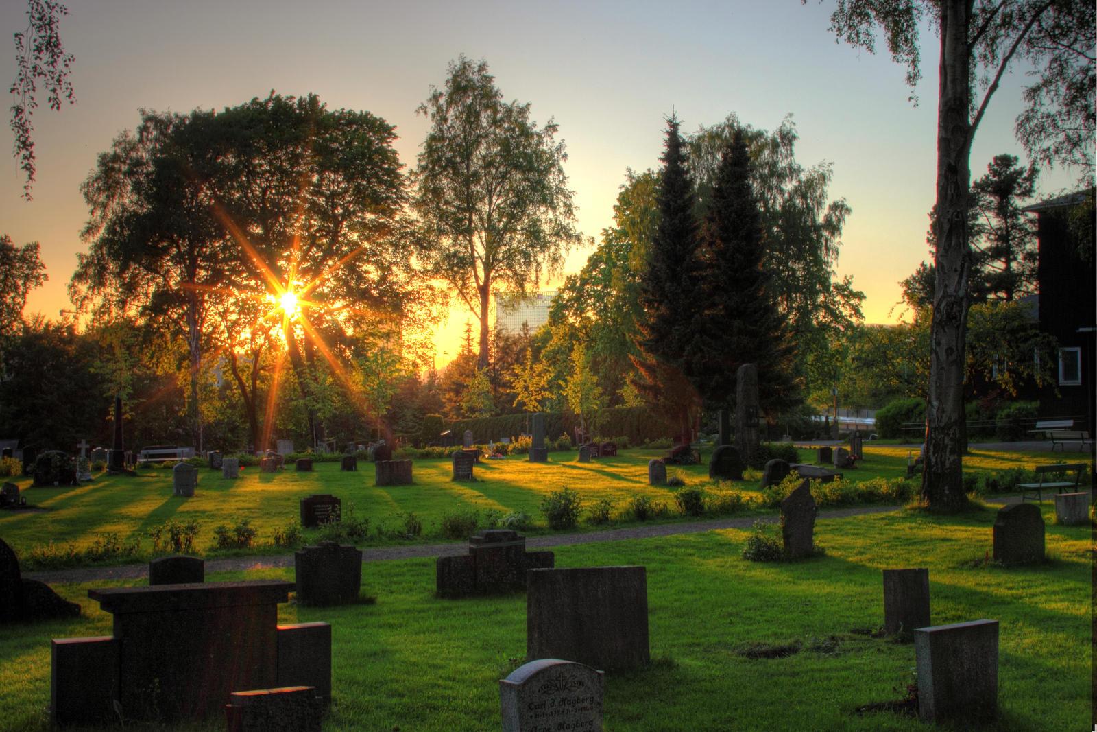 Cemetery in sunset 2 by mariusjellum