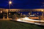 Oslo highway by night