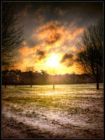 sunrise over snow stock by needanewname
