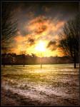 sunrise over snow stock