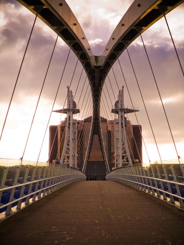 STOCK: Bridge and sky by needanewname