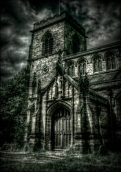 STOCK: Spooky/gothic chapel in HDR