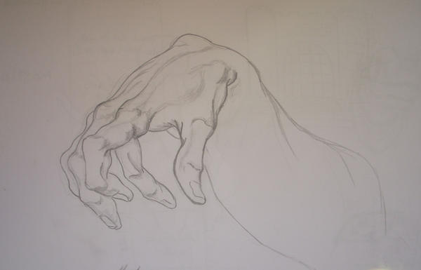 Study for a hand by sketches-lover