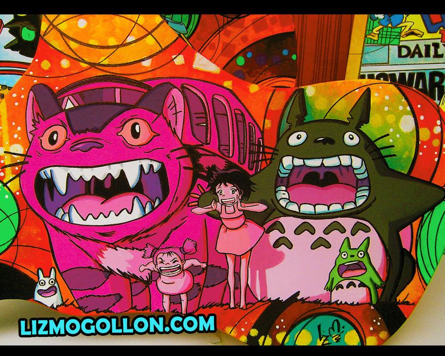 Totoro by lizmogollon