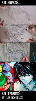 Drawing L Death Note Tutorial
