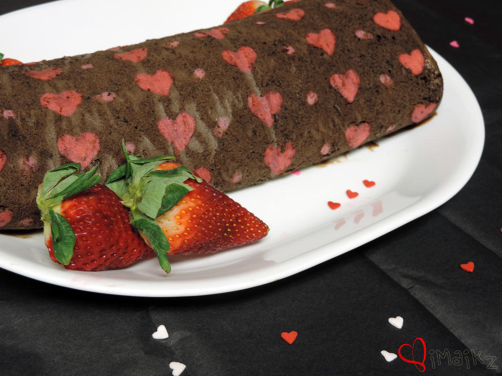 Cake Roll Art : Heart Deco Roll Cake by iMaikz on DeviantArt