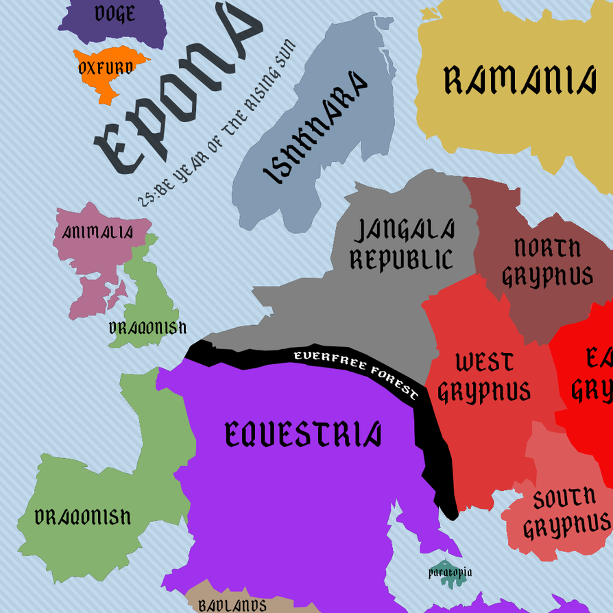 Political Map of Epona by BronyGaming on DeviantArt