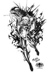 Venom Rose Clothed Logo by chamucasdelamor69