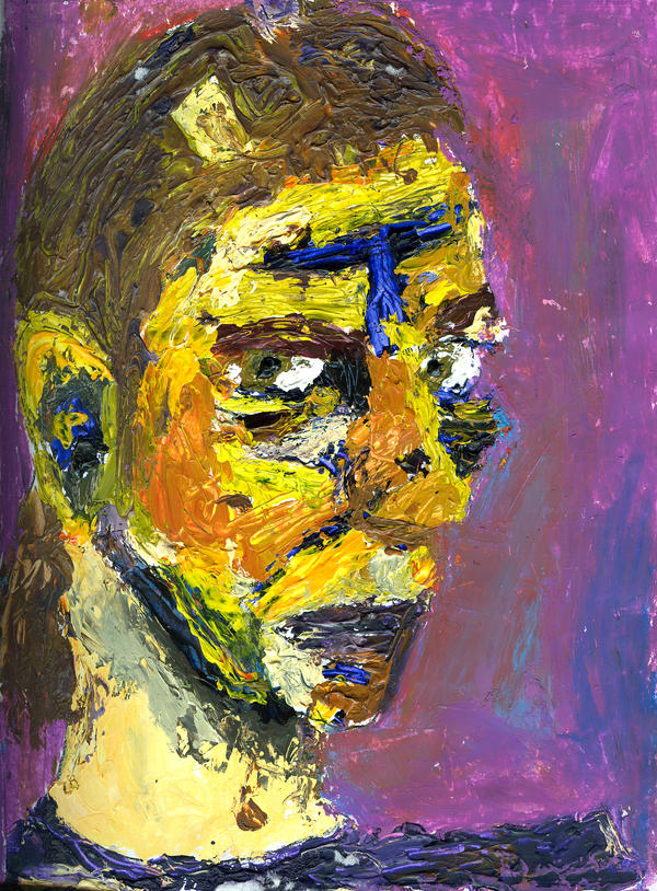 Acrylic Contour Self-Portrait by Meloncov