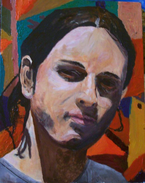 Acrylic Self Portrait by Meloncov