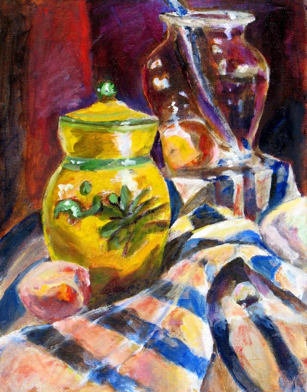 Oil Still Life by Meloncov
