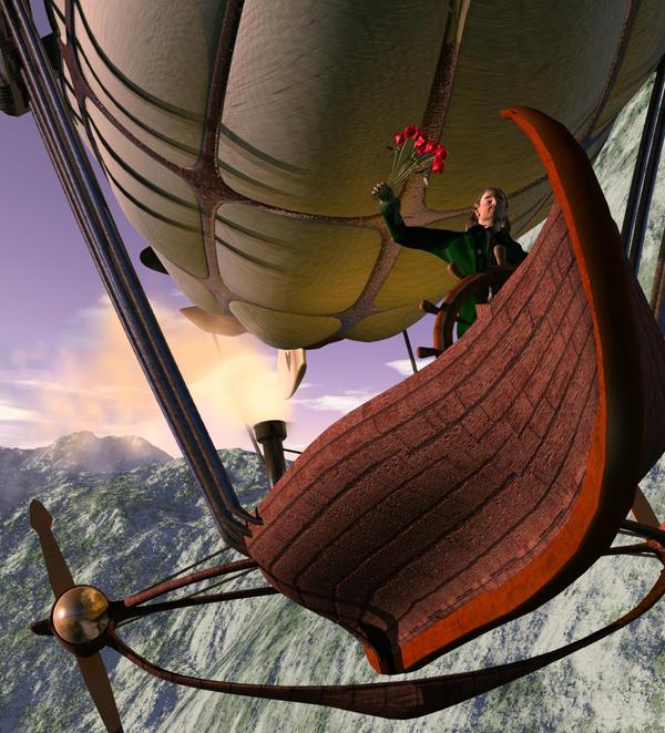 Airship by Meloncov