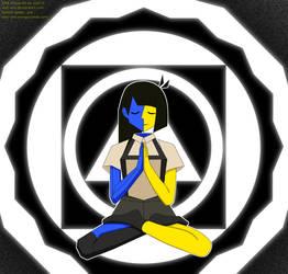 Ena meditating