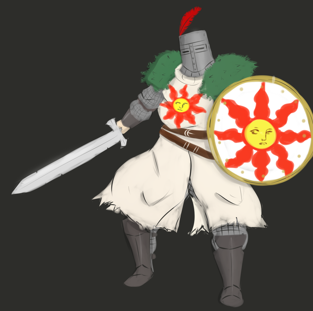 Solaire Painting by owlizard