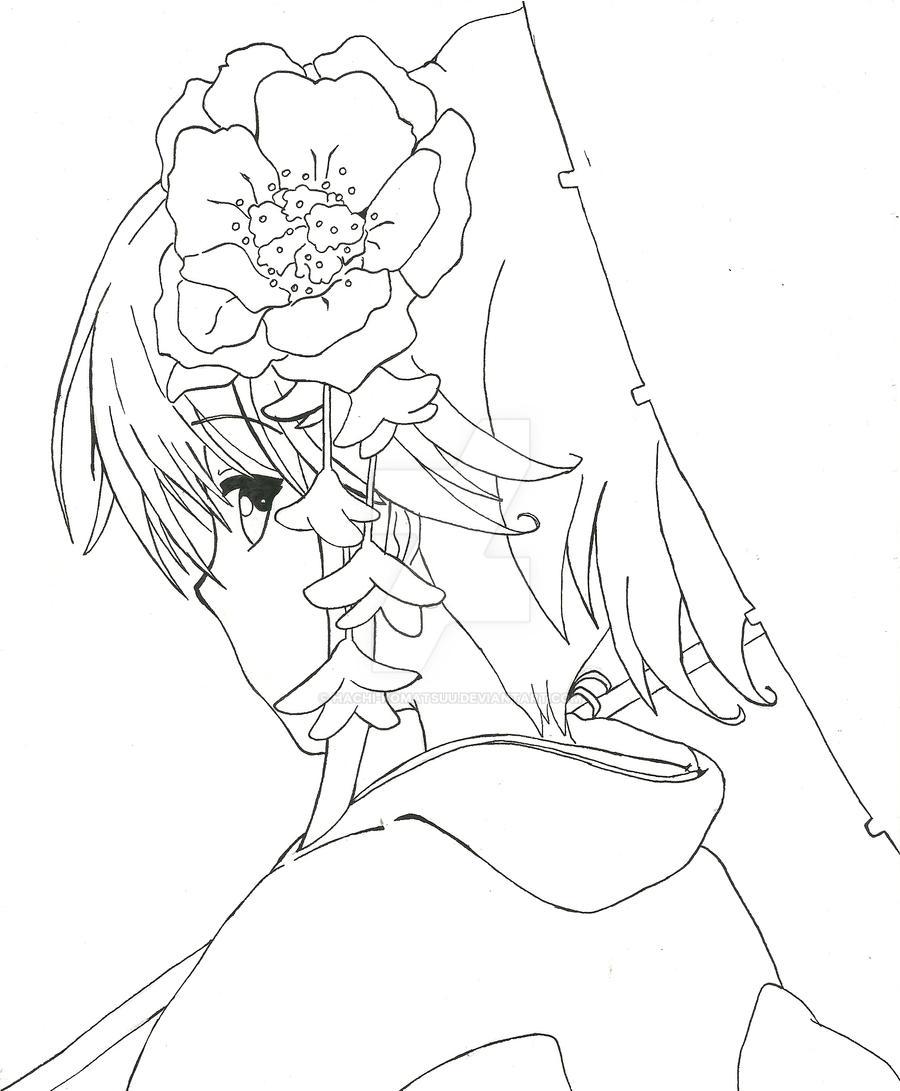 Anime Kimono Coloring Pages