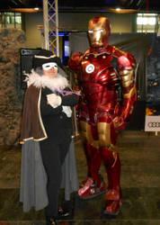 GCC Frankfurt 2017 cosplay: Descole and Iron Man