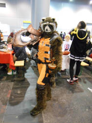EpicCon Frankfurt 2016 cosplay: Rocket Racoon by Lalottered