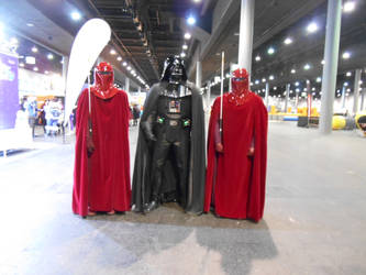 EpicCon Frankfurt 2016 cosplay: Vader and guards by Lalottered