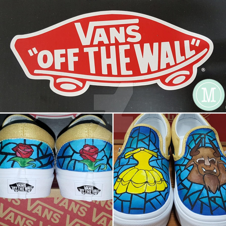 80d631dad6 Stained Glass Beauty and the Beast Custom Vans by mintyfresh89 on ...