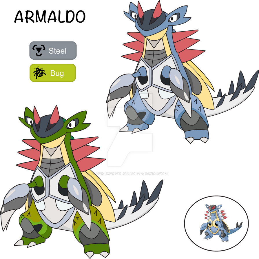 Uncategorized Steel Pokemon armaldo bug steel by pokemoncolour on deviantart pokemoncolour