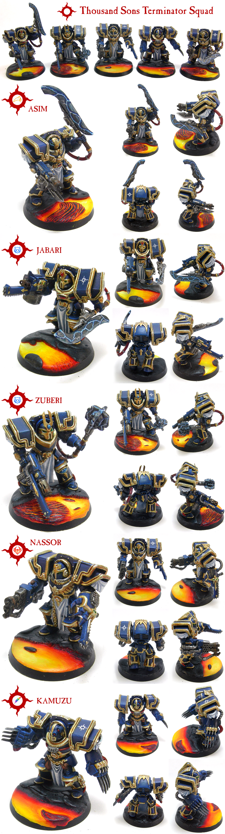 Customised Thousand Sons Terminator Squad by skycat